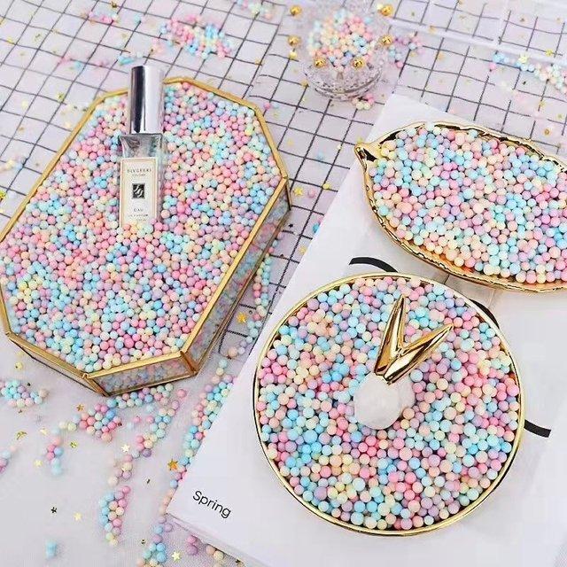 8000 sztuk 2-4mm/1000 sztuk 5-10mm kulki piankowe Craft kula kąpielowa pudełko DIY małe Tiny koraliki piankowe Ballon Foam Filler Party Decor