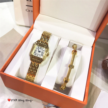 Brand C jewelry sets of 2 quartz watch and bracelet with gift box brand c jewelry sets of 2 quartz watch and bracelet with gift box