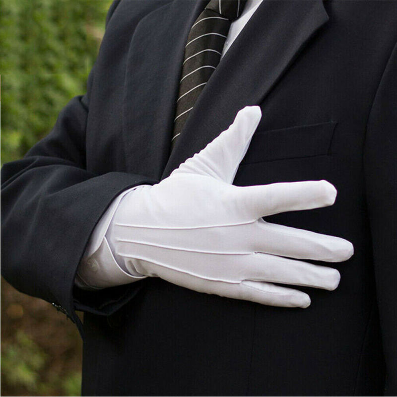 1 Pair Cotton Gloves Khan Cloth Quality Check Gloves Rituals Play White Gloves