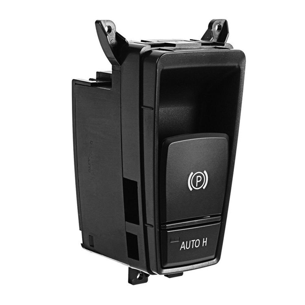Otomobiller ve Motosikletler'ten Sensörler ve Anahtarlar'de Araba Styling elektronik el freni anahtarı park el freni düğme BMW E70 X5 E71 E72 X6 E71 E72 hibrid 61319148508 title=