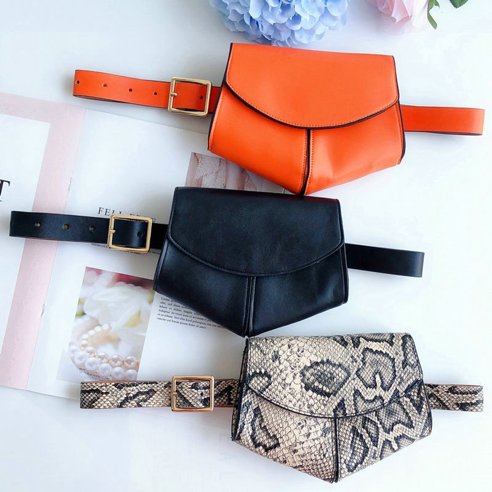 Mini Women Disco Waist Bag Belt Bags Pouch Phone Fanny Packs Purse Travel Bag Leather 2019 Hot