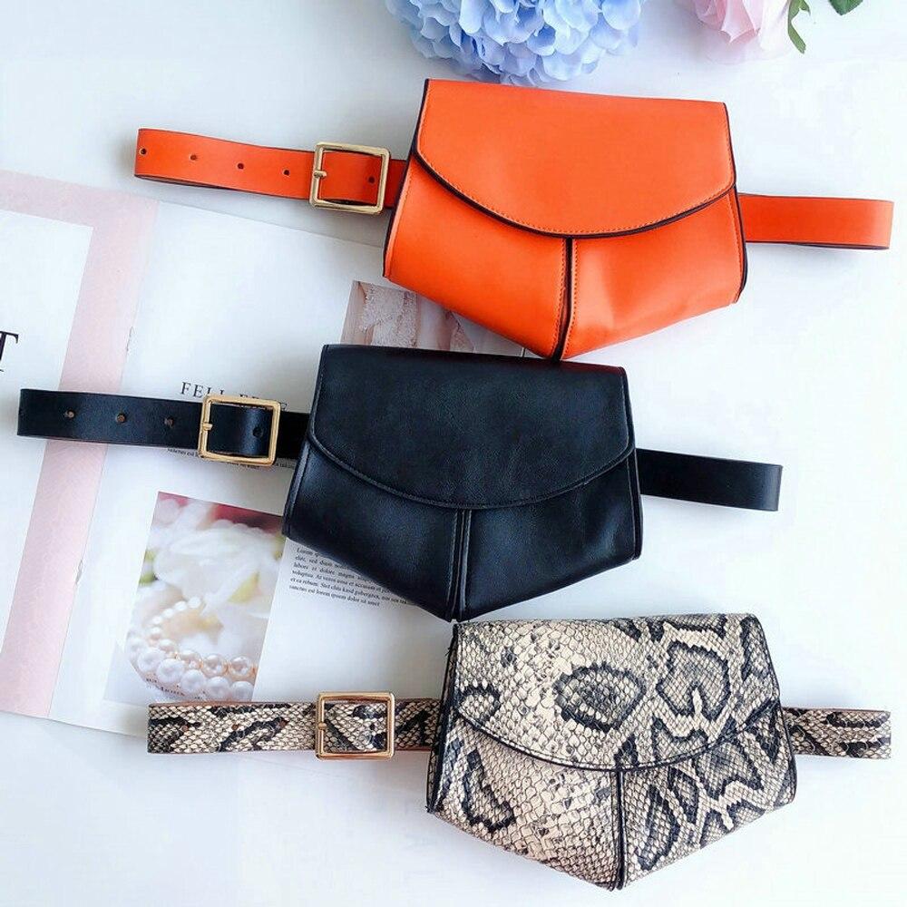 Mini Women Disco Waist Bag Belt Bags Pouch Phone Fanny Packs Purse Travel Bag Leather 2019 Hot