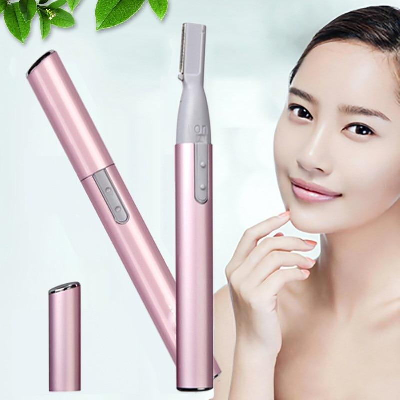 Hot Electric Face Mens Eyebrow Scissors Nose Ear Hair Trimmer Mini Portable Women Body Shaver Remover Blade Razor Epilator