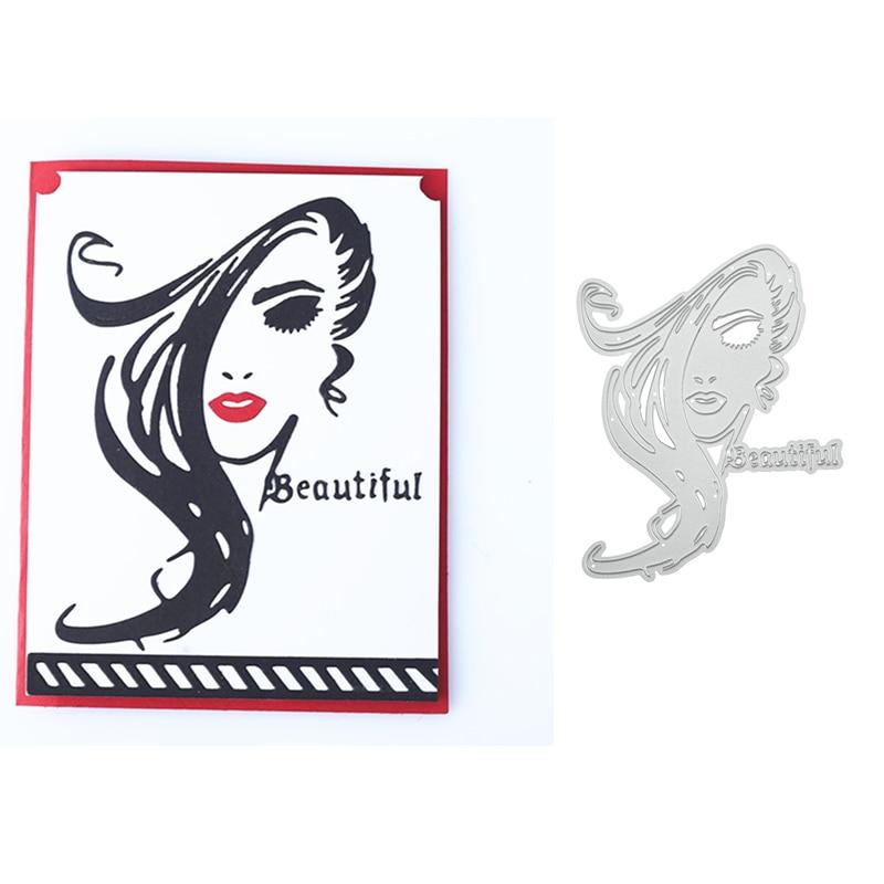 Kokorosa Crafts Long Hair Lady Metal Steel Cutting Dies Stencil for DIY Scrapbooking Paper/photo Cards Embossing Dies 2019 New