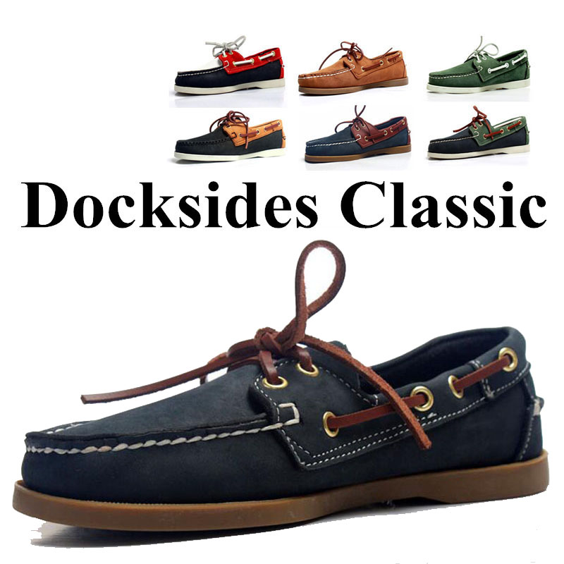 Men Genuine Suede Leather Driving Shoes,Docksides Classic Boat Shoe,Brand Design Flats Loafers For Homme Femme Women 2019A017