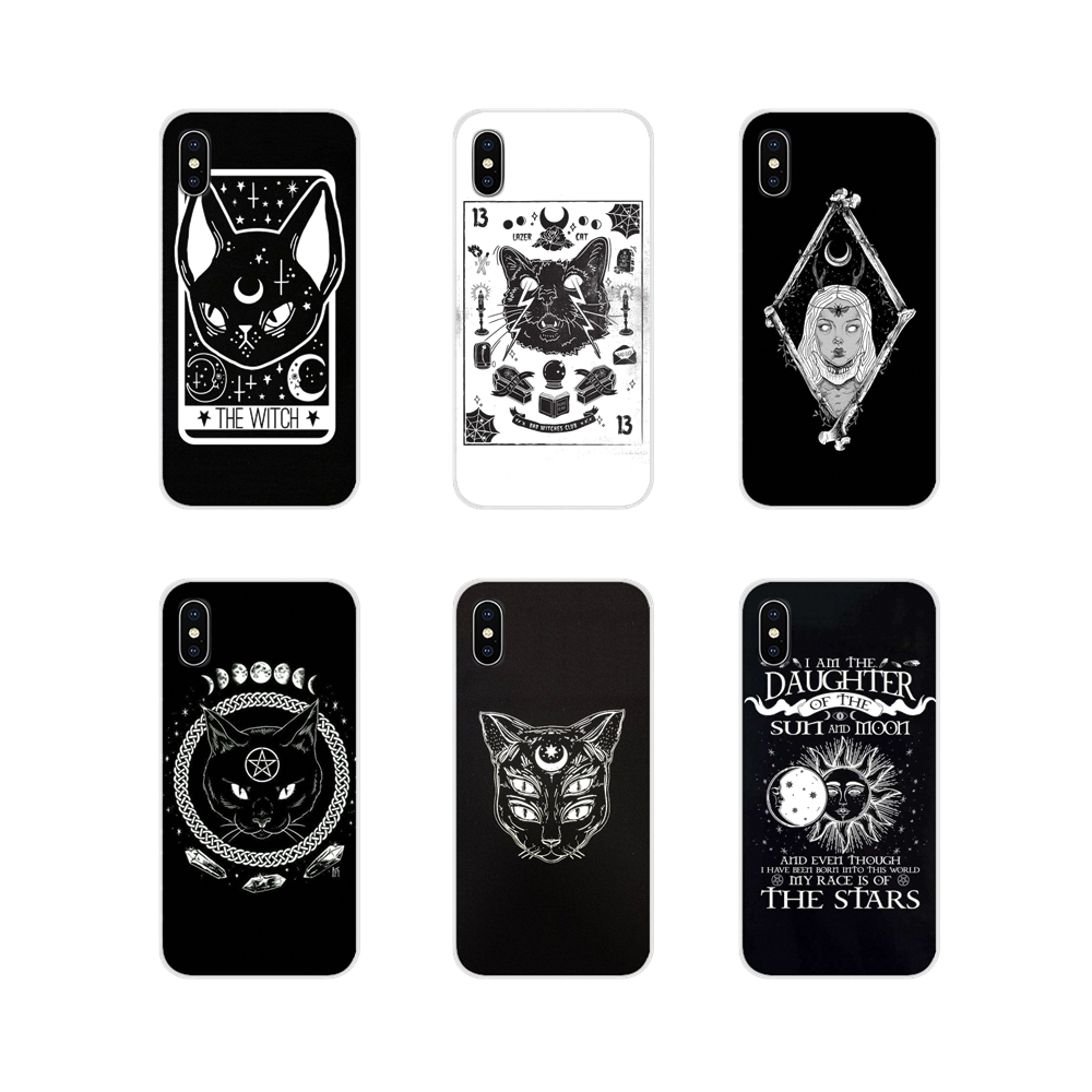 For Huawei Honor 4C 5C 6X 7 7A 7C 8 9 10 8C 8S 8X 9X 10I 20 Lite Pro Witch and cat Accessories Phone Cases Covers