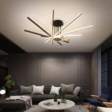 Lampadario moderno a Led luci decorazioni per la casa per soggiorno sala da pranzo cucina camera da letto lampada a sospensione a soffitto con apparecchio di controllo remoto