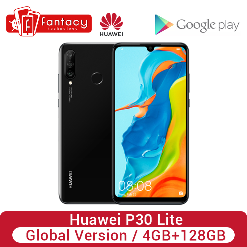 Global Version Huawei P30 Lite 4GB 128GB 24MP Triple Cameras Smartphone 32MP Front Camera 6.15'' Full Screen Kirin 710 18W QC