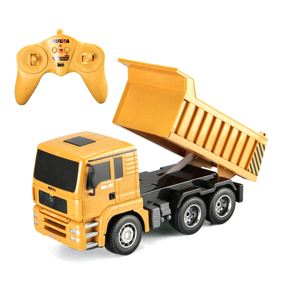 1/18 RC Dump Truck Excavator Electric Kid Engineering Construction Model Hui Na Toys Sand Transporter Remote Control Car for Boy|RC Trucks| - AliExpress