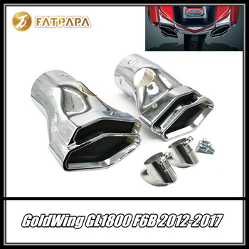 FOR Honda Goldwing 2012-2017 GL1800 & F6B Models Motorcycle Accessories Polygon Integrated Exhaust Tips Pipe