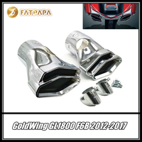 FOR Honda Goldwing 2012 2017 GL1800 & F6B Models Motorcycle Accessories Polygon Integrated Exhaust Tips Pipe