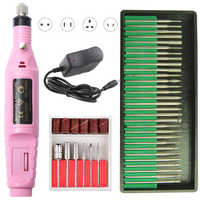 20000 RPM Electric Nail Drill Machine Nail Drill Bits Set Milling Cutters Manicure Pedicure Gel Remover Strong Nail Drill Files