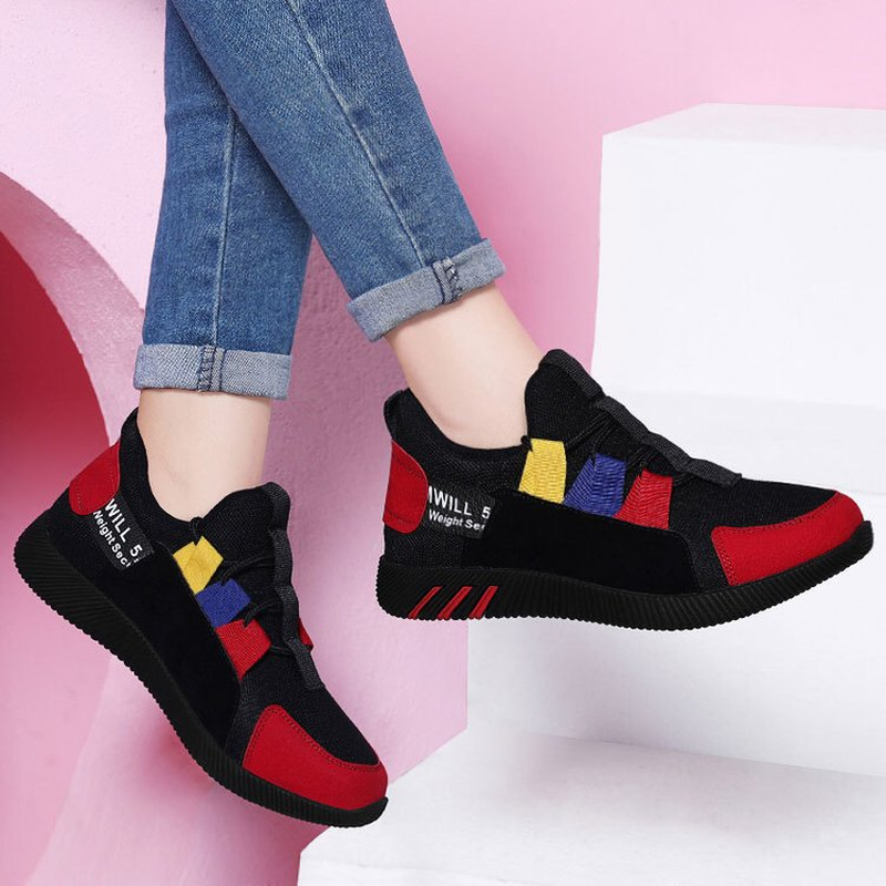 The New Fashion Sneakers Women Shoes New Women Vulcanize Shoes  Platform Shoes Women Flats Female Chunky Sneakers Walking Shoes