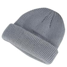 Grey Thick Warm Hats For Ladies Men Hip Hop Knitted Hat Womens Winter Casual Beanie Female Soft Baggy Skulls Cap Keep