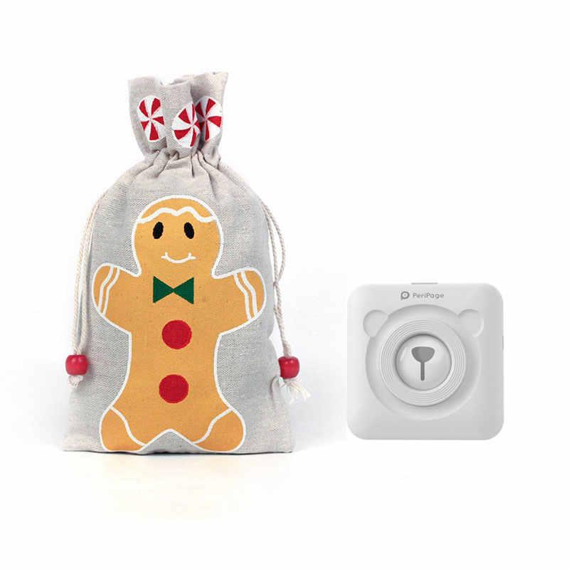 יפה חמוד מיני מדפסת אוזניות smartphone יום הולדת הווה חג המולד מתנת תיק