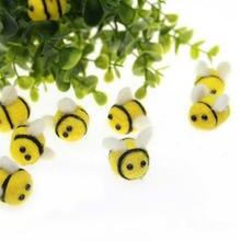 10 шт/упак милый маленький пчелиный войлочный материал каваи
