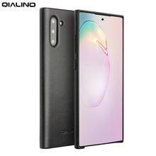 QIALINO Fashion Genuine Leather Slim Case for Samsung Galaxy Note 10 Luxury Ultra Thin Back Cover for Galaxy Note 10 Plus 5G