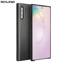 QIALINO funda delgada de cuero genuino para Samsung Galaxy Note 10, funda trasera ultrafina de lujo para Galaxy Note 10 Plus 5G