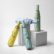 Folding Umbrella Uv-Parasol Simple-Design Sun-Protect Rain Colorful Automatic Windproof