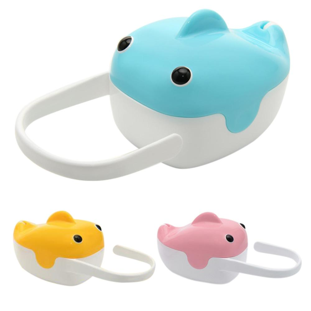 Creative Cute Fish Shaped Newborn Baby Pacifier Storage Case Food Grade Plastic Nipple Shield Holder Box With Ring Handle Portab