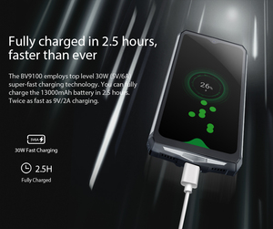 """Image 4 - Blackview BV9100 IP68 Su Geçirmez smartphone 4GB + 64GB 6.3 """"MT6765V Octa Çekirdek 2.3GHz 16MP Android 9.0 NFC 13000mAh 30W Hızlı Şarj"""