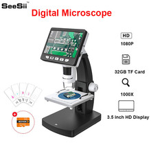 SeeSii 1080P 3.5inch Rechargeable 14MP Magnification Microscope Professional 1000X LCD Digital 2048*1536 Resolution