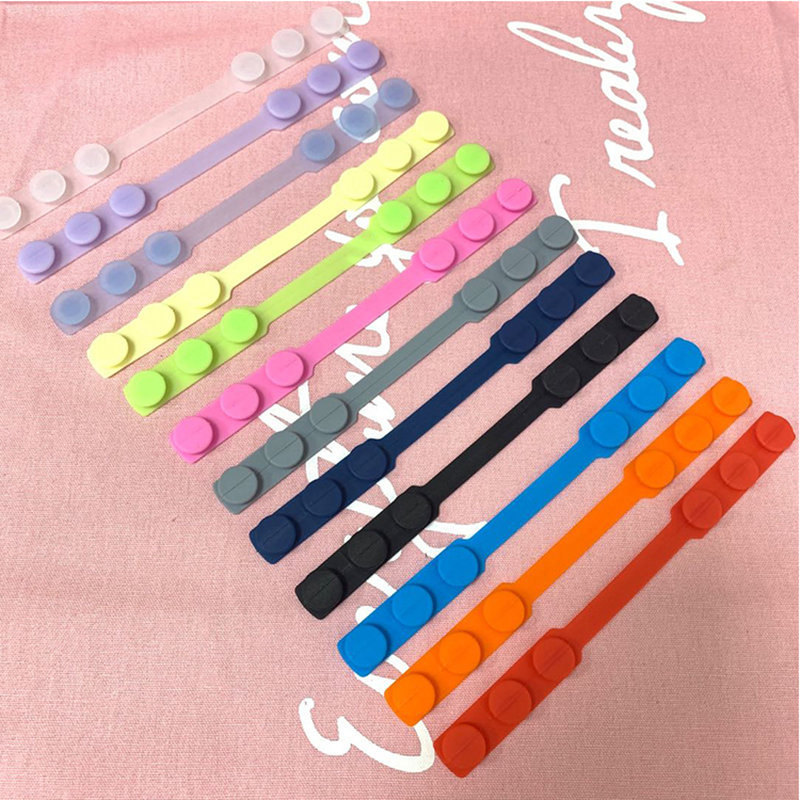 200pcs Adult Ear Protector Mask Hook Buckle Silicone Bandage Ear Rope Anti-Slip Adjustment Mascarillas Buckle Strap For Kids