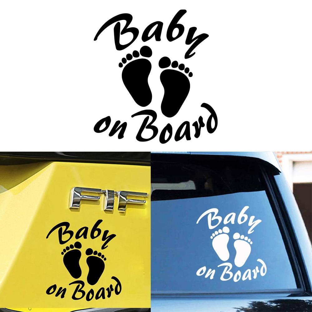 2 x PVC Laminated Baby On Board Sticker B 172