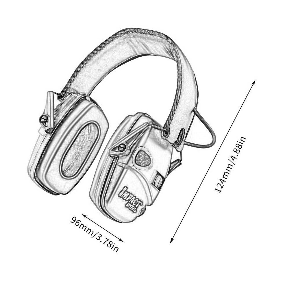 Купить с кэшбэком HOT Tactical Electronic Shooting Earmuff Outdoor Sports Anti-noise Headset Impact Sound Amplification Hearing Protective Headset