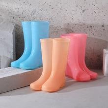 Lizeruee Ladies Waterproof Rain Boots Female Mid-Calf Fashion Women Rubber Rain Boots Girls Shoes Rainboots PVC Rain Shoes WS469 pvc leopard women rain boots female waterproof rainboots rubber shoes kawaihae brand knight riding boots