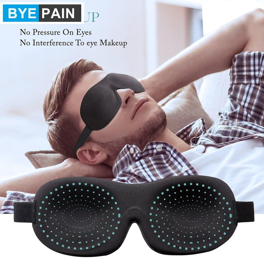 1 шт. BYEPAIN 3D маска для сна, маска для лица для сна, дышащая хлопковая стеганая маска для сна, блокирующий светильник для глаз