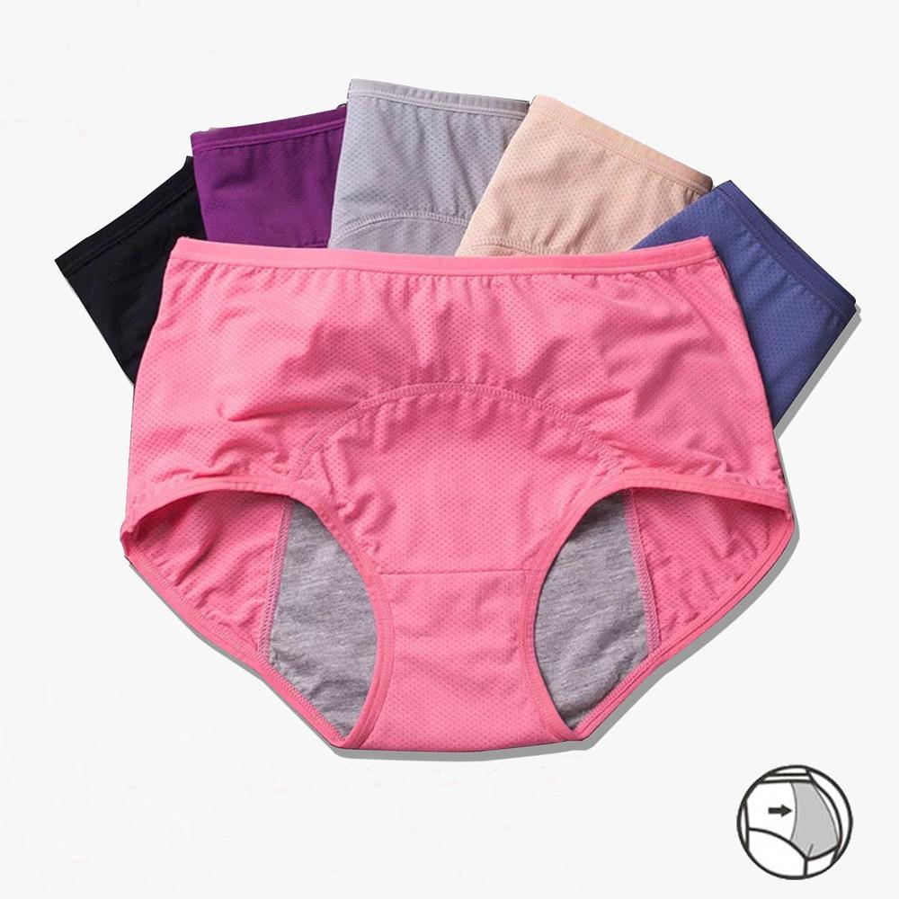 Менструальные трусы с защитой от протечек и недержания окружающей среды, металлическое нижнее белье, трусики для периода, теплые женские се...