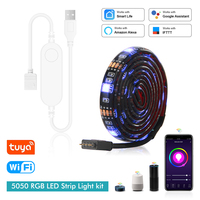 Tuya USB Led Strip Light Wifi telecomando 5V RGB Led Light 0.5M 1M 2M TV retroilluminazione lavora con Alexa Google