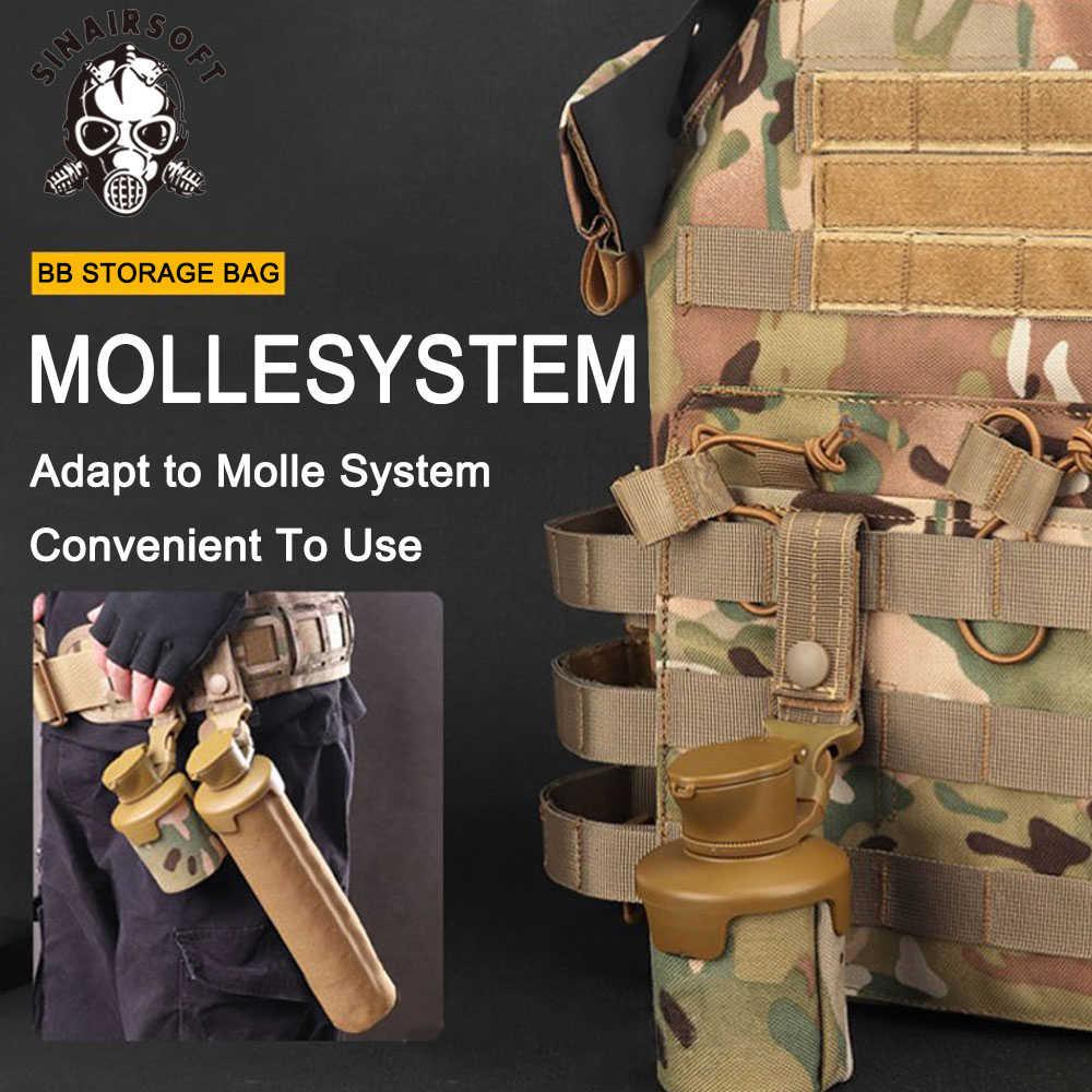Tactische Vouwen Bb Storage Bag 1000D Nylon Grote Volume Molle System Paintball Accessoires Airsoft Schieten Organizer