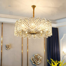Postmodern light luxury led crystal chandeliers living room minimalist bedroom dining room Nordic style hotel lamps(China)