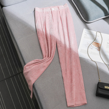 White Corduroy Pants Women Winter 2019 New Autumn Loose Trousers Casual Nine Radish Pink Womens 970G6