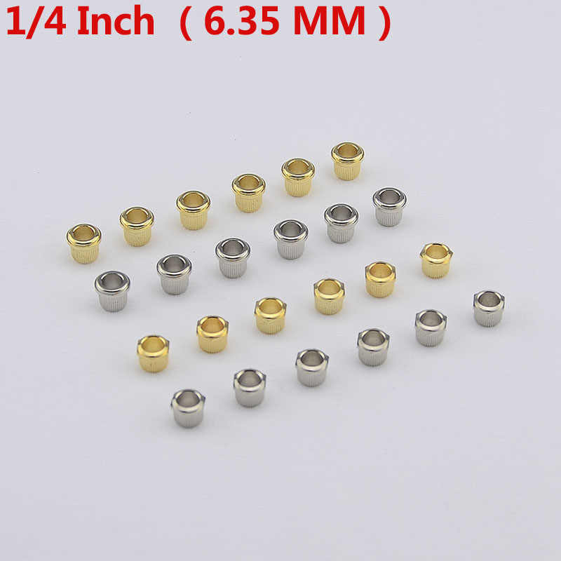1 Set ( 6 Pieces ) Metal Vintage Guitar Machine Heads Tuners Nuts/Bushings/Ferrules  ( 1/4 inch/6.35MM ) MADE IN KOREA