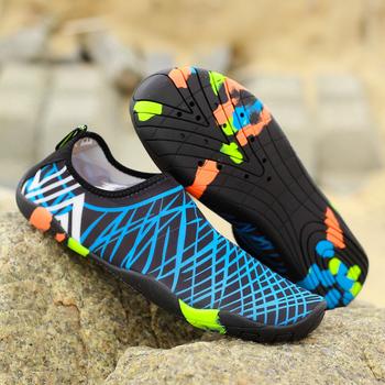 Mężczyźni kobiety buty do wody trampki szybkie suche pływanie obuwie Unisex odkryte oddychające buty na plażę tanie i dobre opinie MAIJION CN (pochodzenie) Pasuje prawda na wymiar weź swój normalny rozmiar Spring2018 Slip-on Początkujący Elastycznej tkaniny
