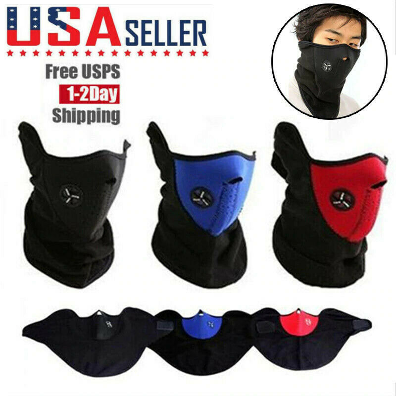 Airsoft Warm Fleece Bike Half Face Mask Cover Face Hood Protection Cycling Ski Sports Outdoor Winter Neck Guard Scarf Warm Mask