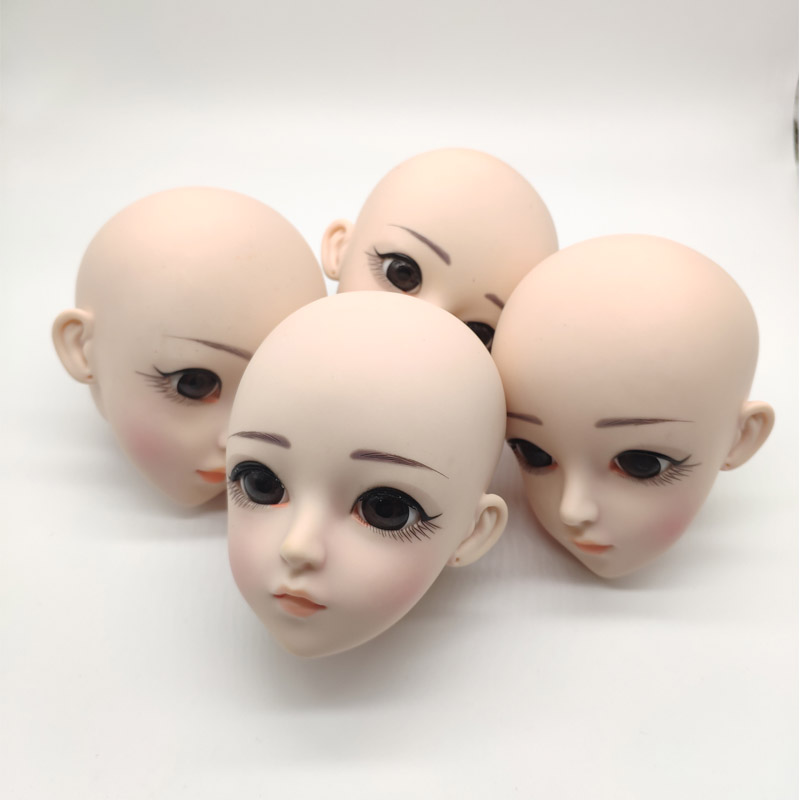 Doll Accessories BJD Doll Head 24CM DIY Doll Head With Eyes