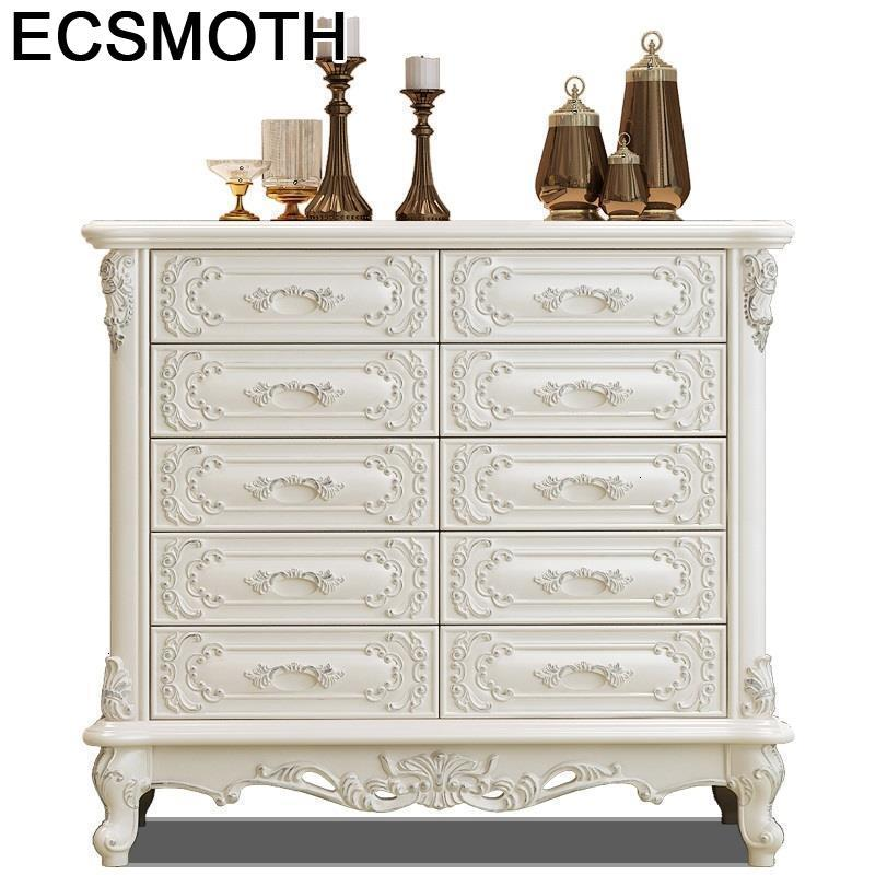 Retro Bedside Table Cocina Armarios Tv Stand European Wooden Mueble De Sala Cabinet Organizer Furniture Chest Of Drawers
