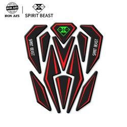 Светоотражающая 3D наклейка на мотоцикл мото газовый топливный бак протектор накладка украшение Наклейки для Honda Yamaha и т. Д. SPIRIT BEAST