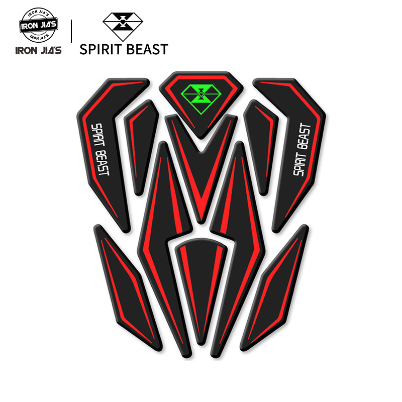 Reflective 3D Motorcycle Sticker Moto Gas Fuel Tank Protector Pad Cover Decoration Decals For Honda Yamaha Etc SPIRIT BEAST