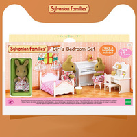 Sylvanian Families Toy Sylvanian Families m2 Sister Room Set GIRL'S Play House Model Furniture Accessories