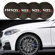 4PCS Car Aluminium NISMO Wheel Hub Center Cap Emblem Styling Wheel Sticker For Nissan March Tiida Pathfinder Xterra Teana Sentra