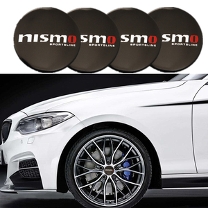 Image 1 - 4PCS Car Aluminium NISMO Wheel Hub Center Cap Emblem Styling Wheel Sticker For Nissan March Tiida Pathfinder Xterra Teana Sentra