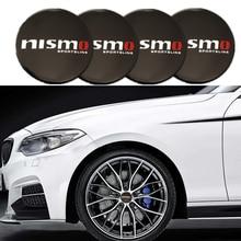 Автомобильная алюминиевая наклейка на колесо NISMO, 4 шт., Центральная крышка, эмблема, стикер на колесо для Nissan March Tiida Pathfinder Xterra Teana Sentra