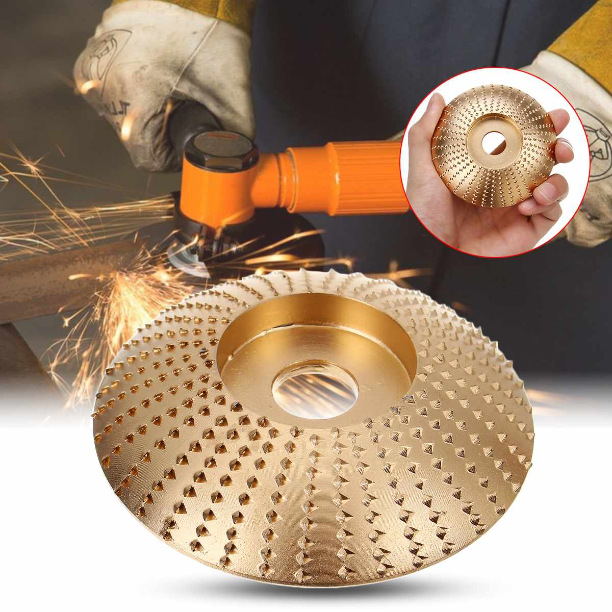 Wood Grinding Wheel Rotary Disc Sanding Wood Carving Tool Abrasive Disc Tools For For Angle Grinder