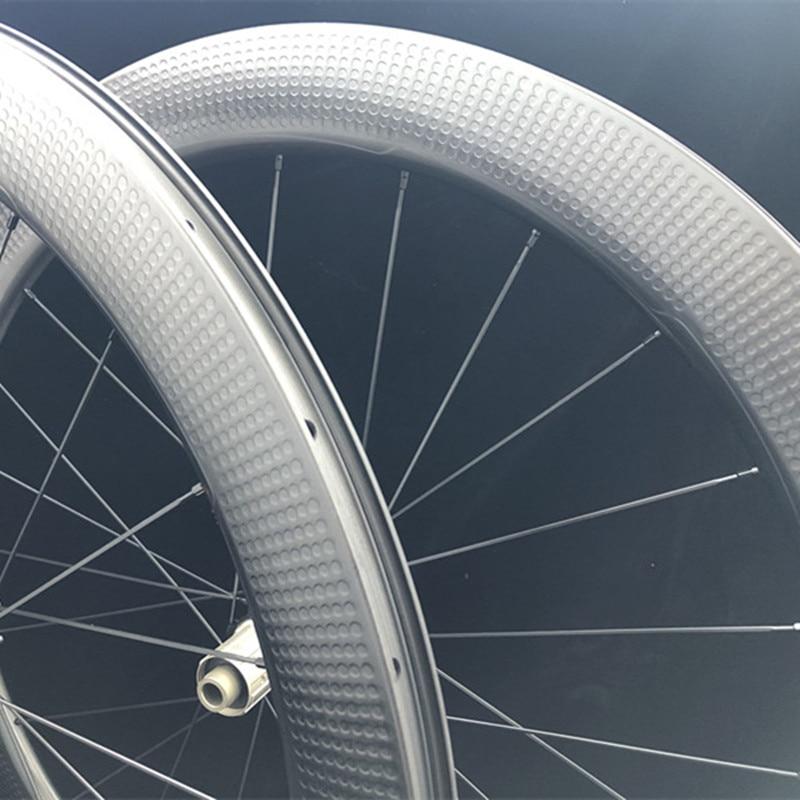 Spor ve Eğlence'ten Bisiklet Tekerleği'de 58mm gamze 404 karbon disk jantlar bisiklet yol bisiklet Tubeless 700C 28mm geniş Cyclocross düz çekme tekerlek title=