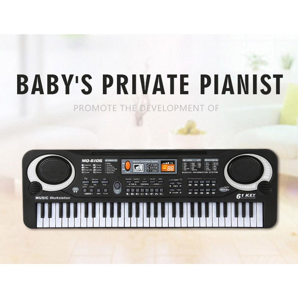 Toy Musical Instrument 61-key Keyboard Digital Music Electronic Keyboard Key Board Electric Piano Children Gift Musical Kids Toy